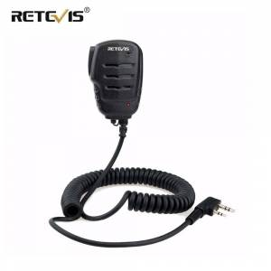 Retevis RS-111 Walkie Talkie Speaker Microphone PTT Mic with 3.5mm Earpiece jack For Kenwood For Baofeng UV5R UV82 RT21 RT24 RT7