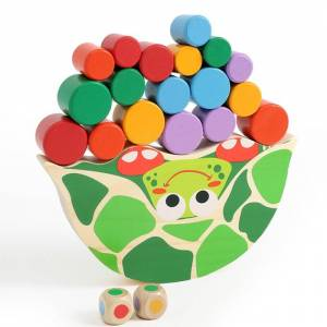Creative Baby Cute Toys Wood Turtle Balance Game Kids Educational Toys For Children Wooden Toys Balancing Blocks For Children