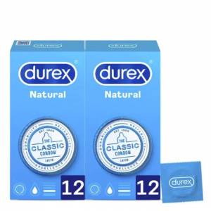Durex Love Sex Natural Plus Duo Preservativos 2x12unid.
