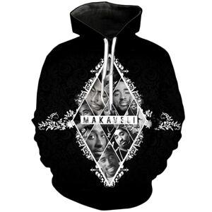 Mais recente Moda Legendary Rapper Tupac 2 pc Hoodies Unisex Mulheres Homens Engraçado 3D Impressão Pullovers Outerwear Hoodies Tops Casuais Tees A