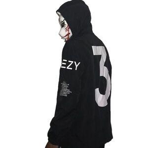 Homens Celeb Kanye West Blusão Fina Streetwear À Prova D 'Água com chapéu Arm Letras Hip Hop Street Dance Jacket