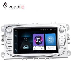 Podofo Car Android Radio Autoradio 7 '' Capacitive Touch Screen Car DVD Multimedia Player GPS Navigation WIFI MP5 Bluetooth FM para Ford Focus