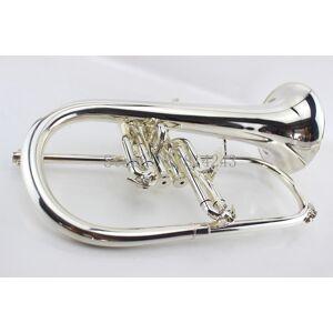 Americano Bach Flugelhorn Latão Banhado A Prata B Bb Trompete Plana Instrumentos Musicais de Alta Qualidade Trompete Chifre Com Caso Frete Grátis