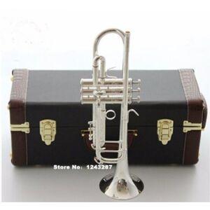 Novo Genuíno Americano Bach Trompete banhado a ouro e prata AB 190S pequenos instrumentos Musicais Tocando profissional Frete grátis