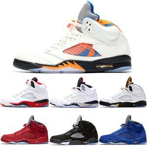 Nike Air Jordan 5 Mens 5 5 s tênis de basquete internacional de vôo azul camurça olímpica og metálico preto branco fogo de cimento vermelho bara