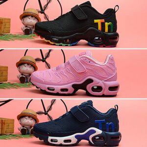 Nike Tn Plus air max Mercurial 2.0 menino menina sapato Para crianças de alta qualidade clássico pai-filho ao ar livre atlético mix sneaker preto