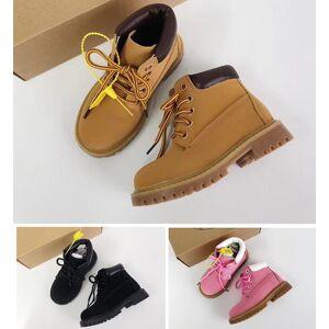 2019 botas crianças Designer Sports Shoes Sneakers Casual meninos meninas Formadores Trigo Preto Vermelho Luxo crianças botas presente do bebê 26-