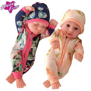 13 estilo bonecos macios Lifelike corpo renascido do bebê 10 Inch Realistic silicone toque real recém-nascidos de brinquedo com roupas caçoa o pre