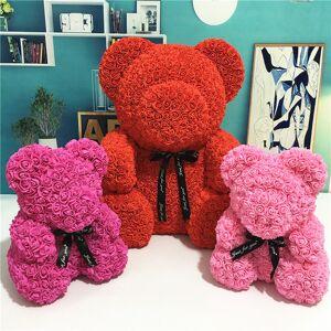 Urso Rose 24 centímetros com urso de peluche de presente caixa de espuma Brinquedos Rose Flower Valentines Artificial por Mulheres Natal Dropshippin