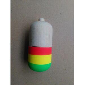 20 pcs Forma de Pílula de borracha Kendama Bola Brinquedo Engraçado Bahama Tradicional Madeira Jogo Toy Skills copo Kendama Bola Crianças Brinqued