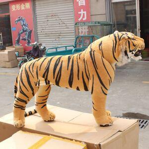 simulação tigre de brinquedo de pelúcia em pé tigre tigre boneca de brinquedo boneca fotografia adereços