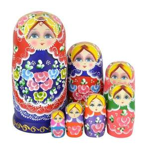 Belo conjunto de 7 Cutie aninhando bonecas Matryoshka Madness boneca russa de madeira desejando bonecas brinquedo FJ88