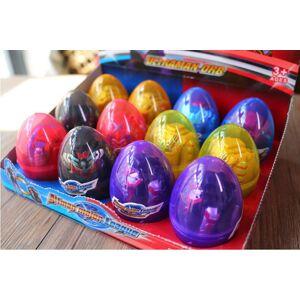 12 pçs / lote deformado ovo de dinossauro ovo deformado brinquedos deformado ultraman surpresa ovos de páscoa ajuda crianças explorar brinquedos d