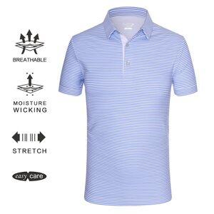 Blue Horizontal Stripes golf polo shirt
