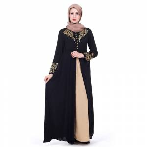 Zakiyyah Z180502 New arrival islamic abaya with bead decoration  abaya for sale FOUR SIZE COULD BE CHOOSE