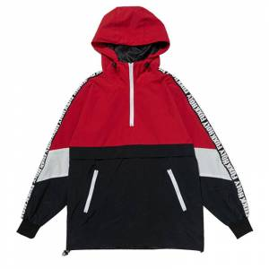 Wholesale Custom Tracksuits Casual Coats Hip Hop Male Streetwear Patchwork Color Block Pullover Hooded Jackets With Taping
