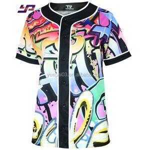 Super quality 100% polyester baseball&softball wear sportswear custom design v neck pullover baseball jersey