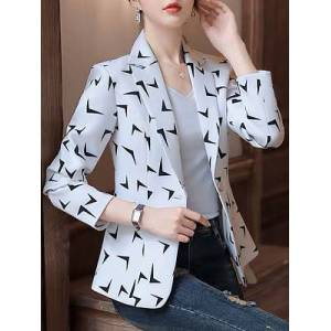 Stylish slim printed Blazer