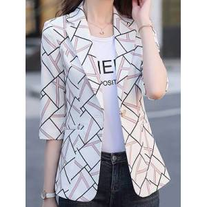 Temperament Slim Printed Blazer