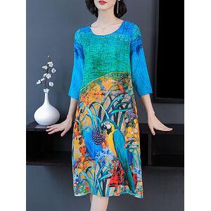 Women's Mid-long Print Dress