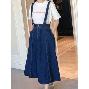 Fashionable denim halter skirt