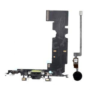 "For iPhone 8 4.7"" Charging Port Flex Cable + Home Button Flex Cable Replacement Parts - Black"