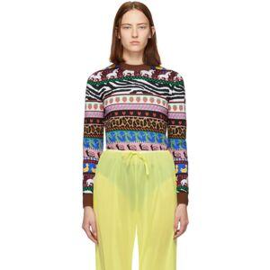 Miu Miu Multicolor Jacquard Patterns Sweater