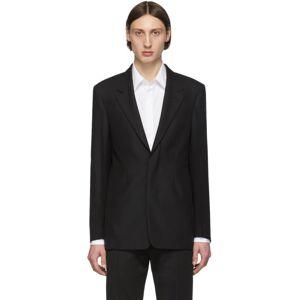 Maison Margiela Black Wool Single-Breasted Blazer