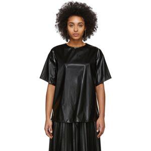 MM6 Maison Margiela Black Coated Zipped Blouse