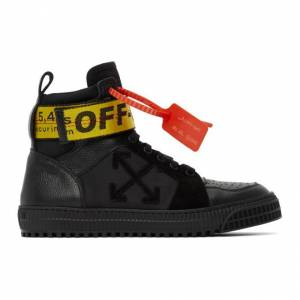 Off-White SSENSE Exclusive Black Industrial High-Top Sneakers