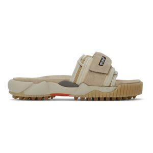 Off-White Beige Oddsy Minimal Slider Sandals