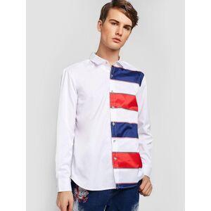 Camisa ZAFUL Color Block Stripes Print