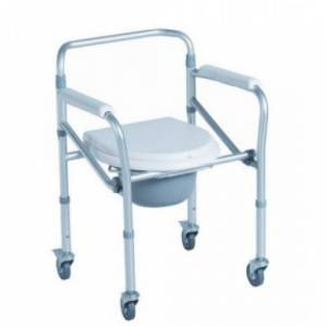 Cadeira Sanitária em Alumínio c/Rodas