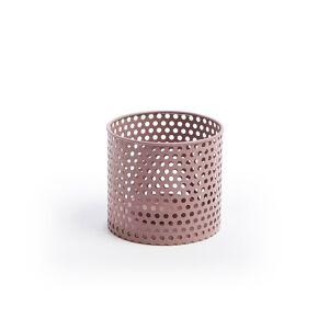 Castiçal de metal Erran Ø 12 cm cor-de-rosa