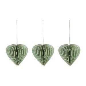 Set Uriel de 3 adereços decorativos de pendurar verde