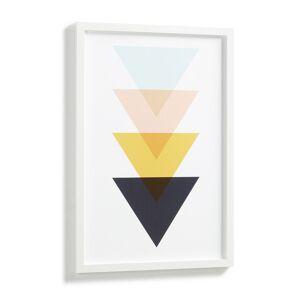 Quadro Bekko triângulos 43 x 63 cm