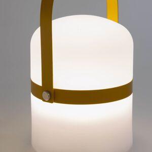 Kave Home Candeeiro de mesa LED mini Ridley mostarda