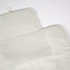 Muda-fraldas de viagem Jeila 100% algodão (GOTS) turquesa