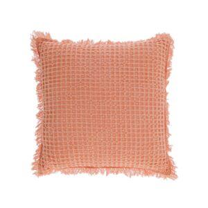 Capa de almofada Shallow 100% algodão laranja de 45 x 45 cm