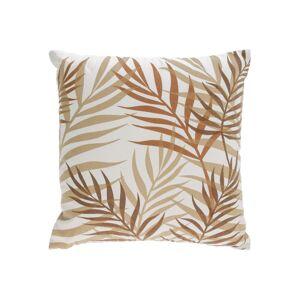 Capa almofada Amorela 100% algodão folhas castanho 45 x 45 cm