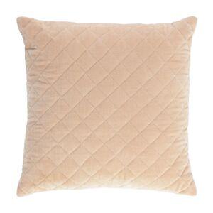 Capa de almofada Carmin 45 x 45 cm veludo rosa losangos