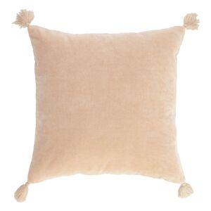 Capa de almofada Carmin 45 x 45 cm veludo rosa liso