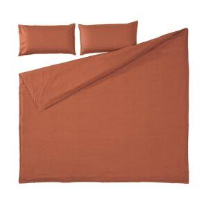 Set Ibelis de lençol, capa edredão e capa almofada 145x190cm algodão orgânico (GOTS) grená