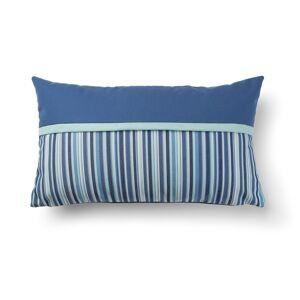 Capa de almofada Blu azul e listrado