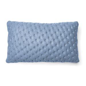 Capa de almofada acolchoada Kam 30 x 50 cm azul claro