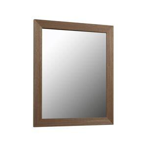 Espelho Wilany 47 x 57,5 cm moldura larga com acabamento nogueira