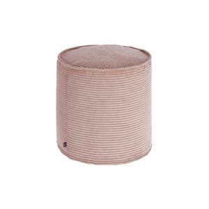 Pufe pequeno Wilma Ø 40 cm bombazine rosa