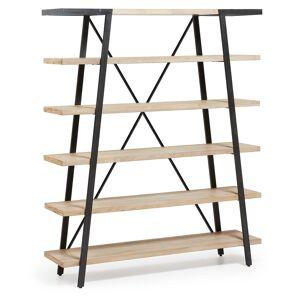 Estante Thinh 150 x 180 cm madeira maciça de acácia