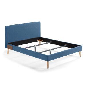 Cama Dyla 160 x 200 cm azul escuro
