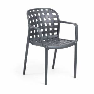 Cadeira Isa cinzenta escura